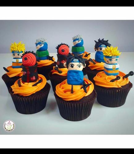 Naruto Themed Cupcakes