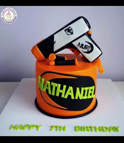 Nerf Gun Themed Cake - 3D Cake Toppers - 1 Tier 03