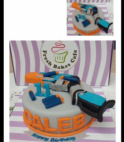 Nerf Gun Themed Cake 01