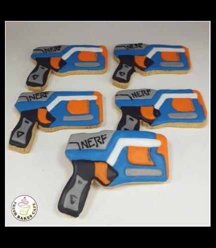 Nerf Gun Themed Cookies