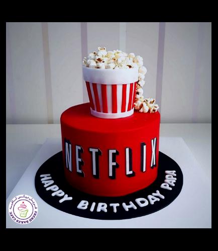 Netflix Themed Cake - Popcorn 01