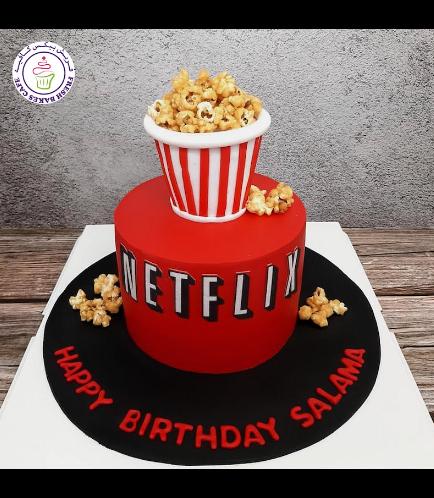Netflix Themed Cake - Popcorn 02