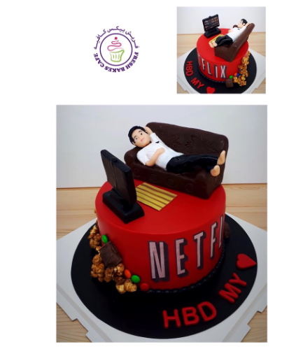 Netflix Themed Cake - Character