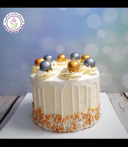 Funfetti Cake - Gold & Silver