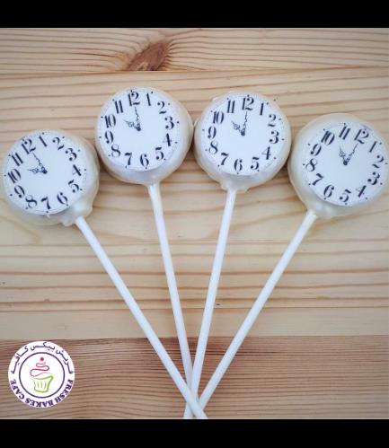 New Year's Eve Themed Donut Pops - Clocks