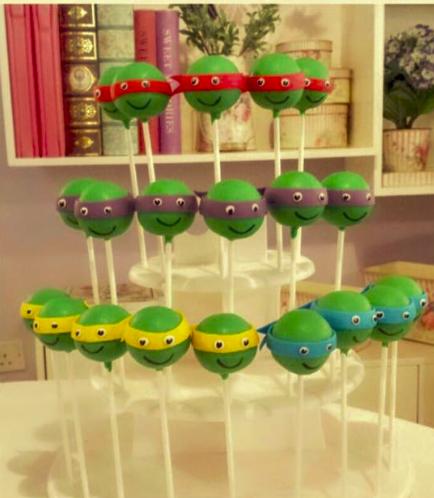 Ninja Turtles Themed Cake Pops