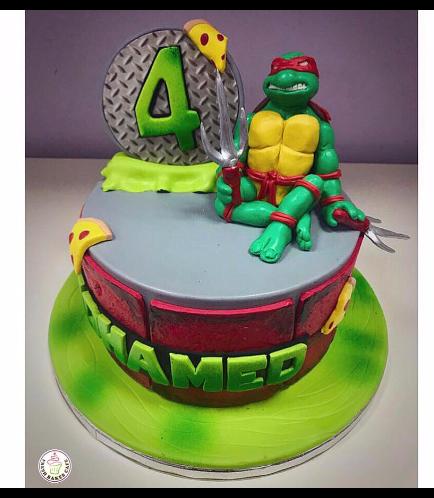 Ninja Turtles Themed Cake 04b