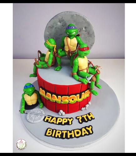 Ninja Turtles Themed Cake 05a