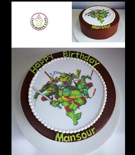 Ninja Turtles Themed Cake 06