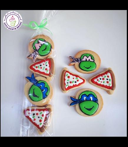 Ninja Turtles Themed Cookies - Minis