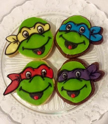 Ninja Turtles Themed Cookies