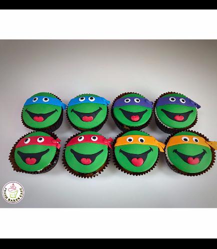 Ninja Turtles Themed Cupcakes
