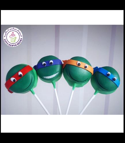 Ninja Turtles Themed Donut Pops
