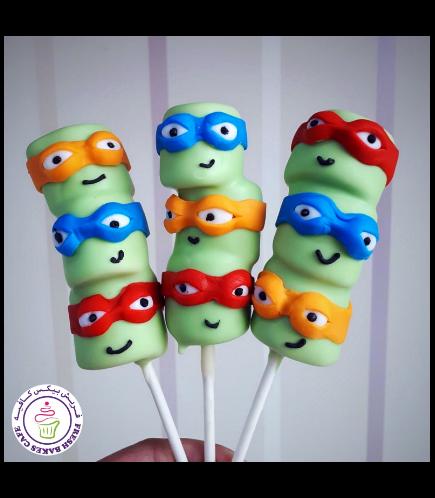 Ninja Turtles Themed Marshmallow Pops