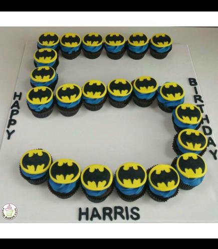 Batman Themed Mini Cupcakes - Number 5