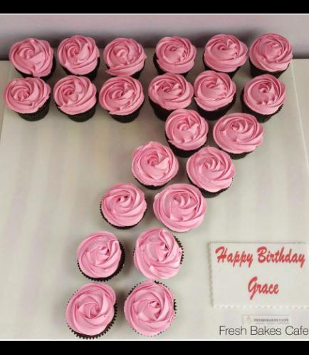 Number 07 Cupcakes