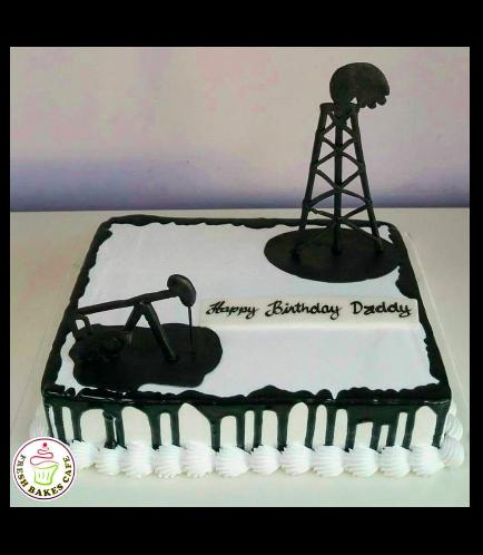 Oil Industry Themed Cake