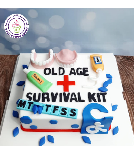 Old Age Themed Cake