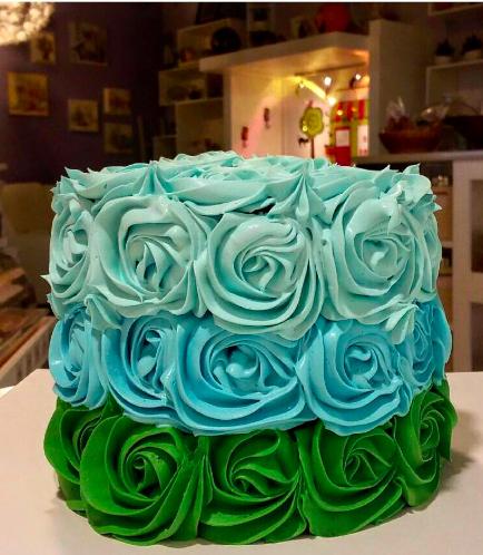 Cake - Blue & Green