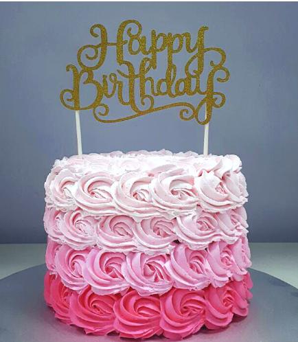 Rose Cream Ombre Cake 01a