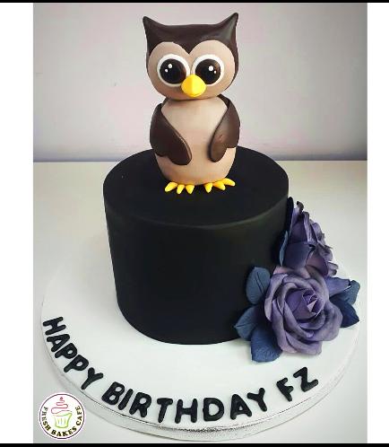 Owl Themed Cake - 3D Cake Topper 03