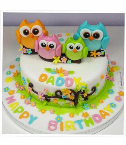 Owl Themed Cake 06