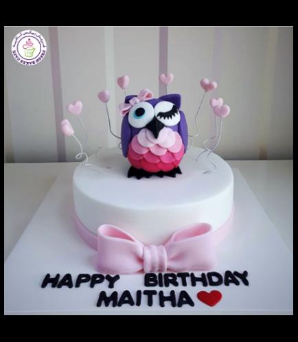 Owl Themed Cake - 3D Cake Topper 02b