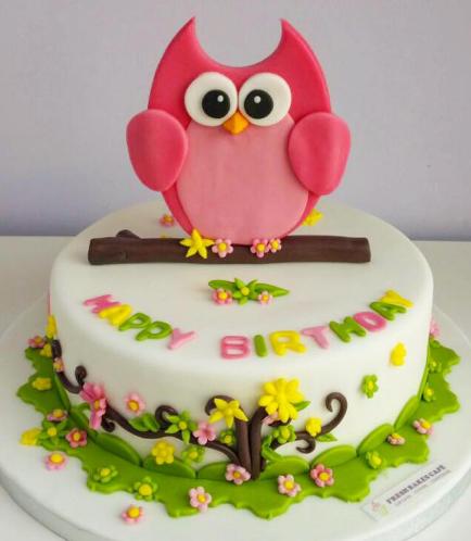 Owl Themed Cake 08a