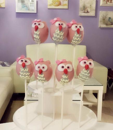 Owl Themed Cake Pops 2