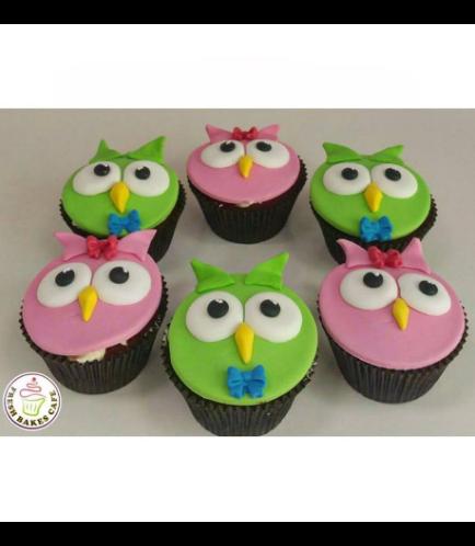 Owl Themed Cupcakes 1