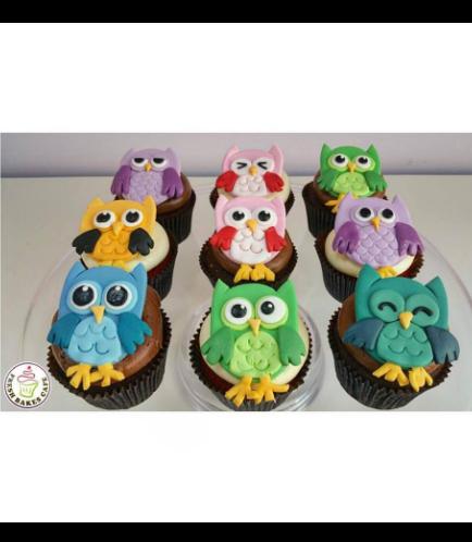 Owl Themed Cupcakes 02
