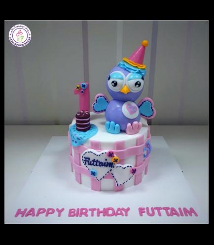 Owl Themed Cake - 3D Cake Topper 04
