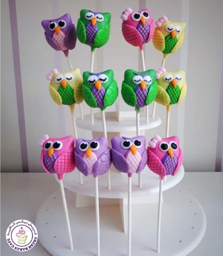 Owl Themed Cake Pops 5