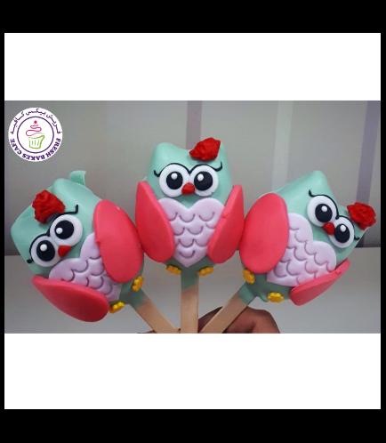 Owl Themed Popsicakes 01