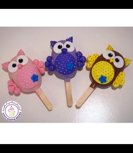 Owl Themed Popsicakes 02