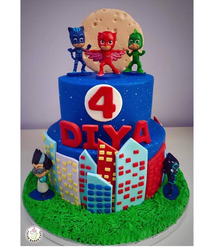 Cake - 2D Fondant Shaper with Plastic Toys - 2 Tier 01