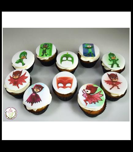 PJ Masks Themed Cupcakes 01