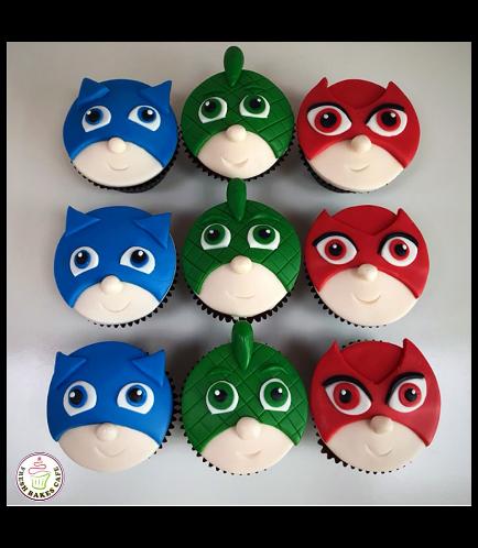 PJ Masks Themed Cupcakes 02