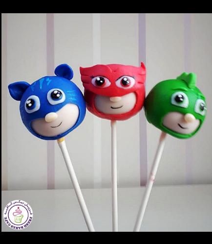 PJ Masks Themed Cake Pops