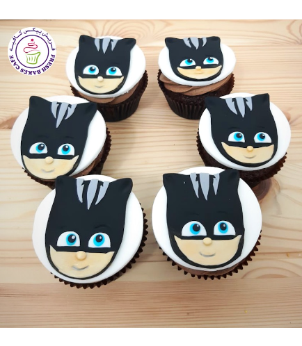 Cupcakes - 2D Fondant Toppers - Bad CatBoy