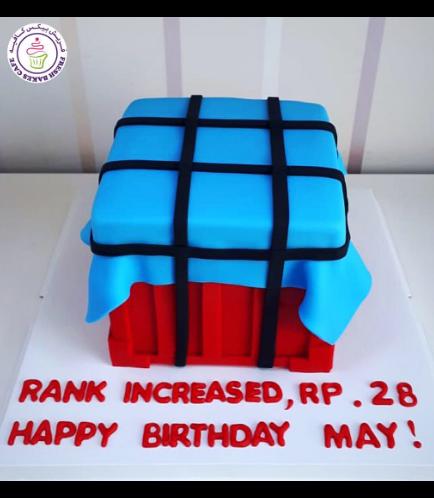 PUBG Themed Cake 01b