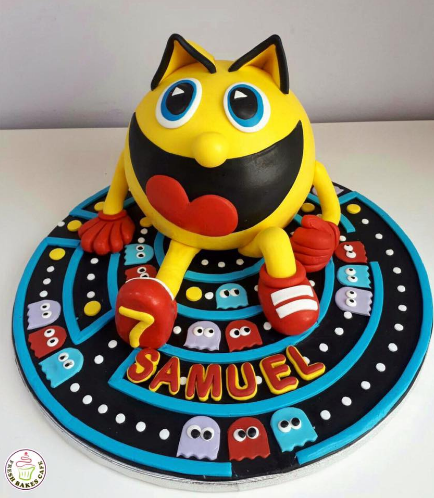 Pac-Man Themed Cake 02