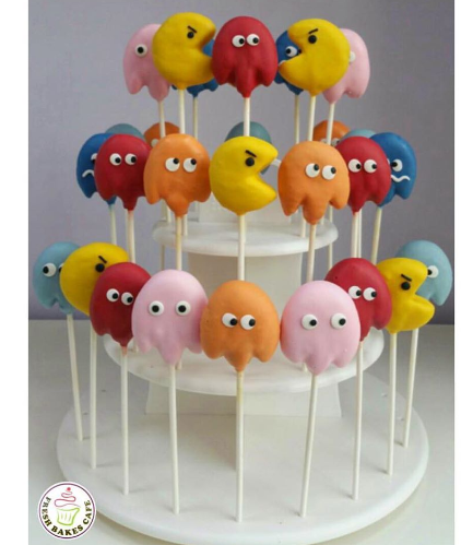 Pac-Man Themed Cake Pops