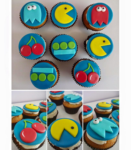 Pac-Man Themed Cupcakes 01