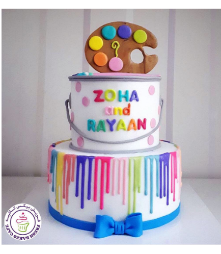 Paint Palette Themed Cake 03