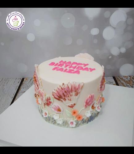 Cake - Flowers - Painted Cake 02