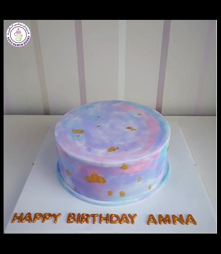 Cake - Watercolor Fondant Cake