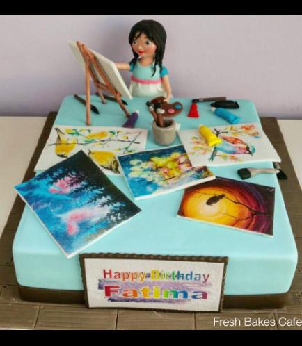 Painter Themed Cake 01