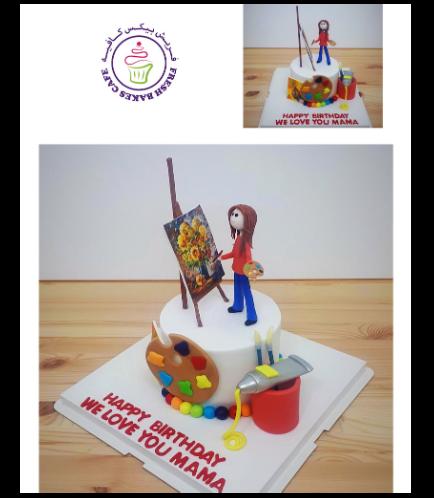 Painter Themed Cake 02