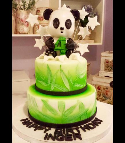 Panda Themed Cake - 3D Cake Topper - 2 Tier